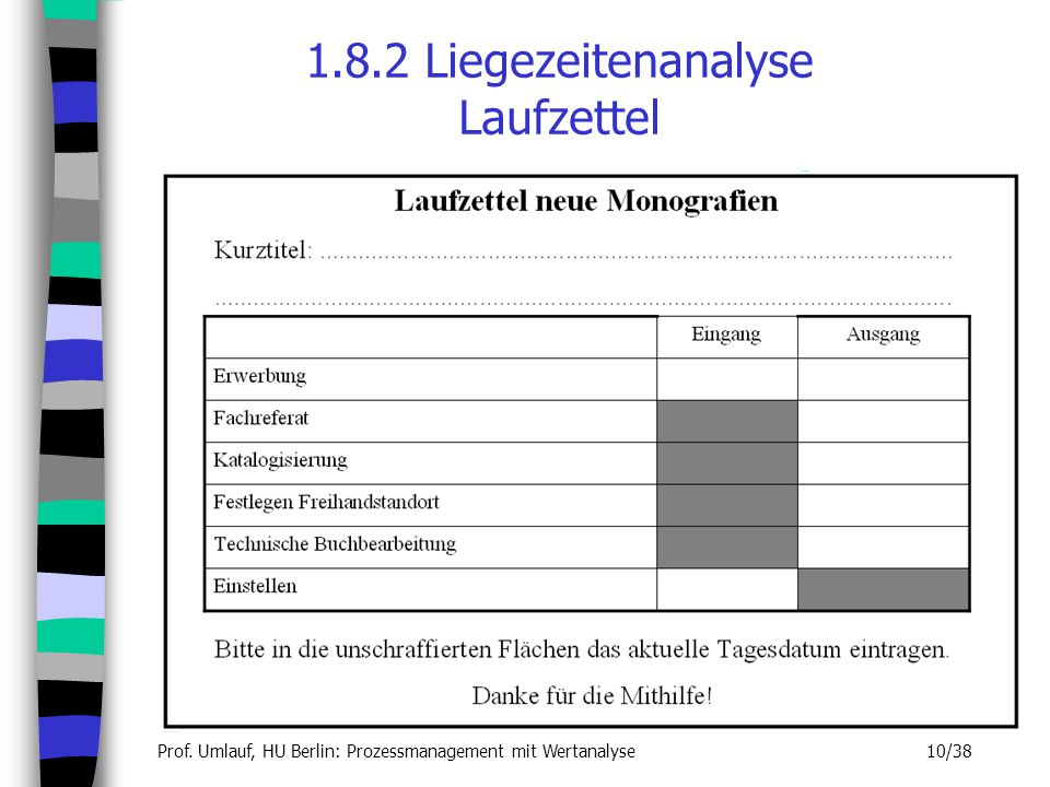 1.8.2 Liegezeitenanalyse Laufzettel