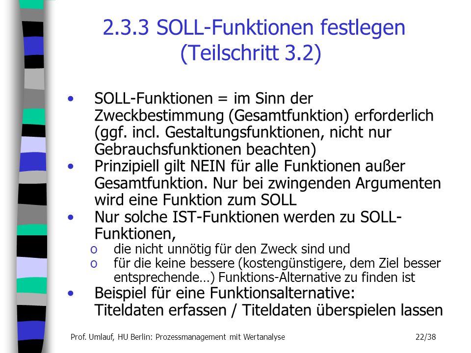 2.3.3 SOLL-Funktionen festlegen (Teilschritt 3.2)
