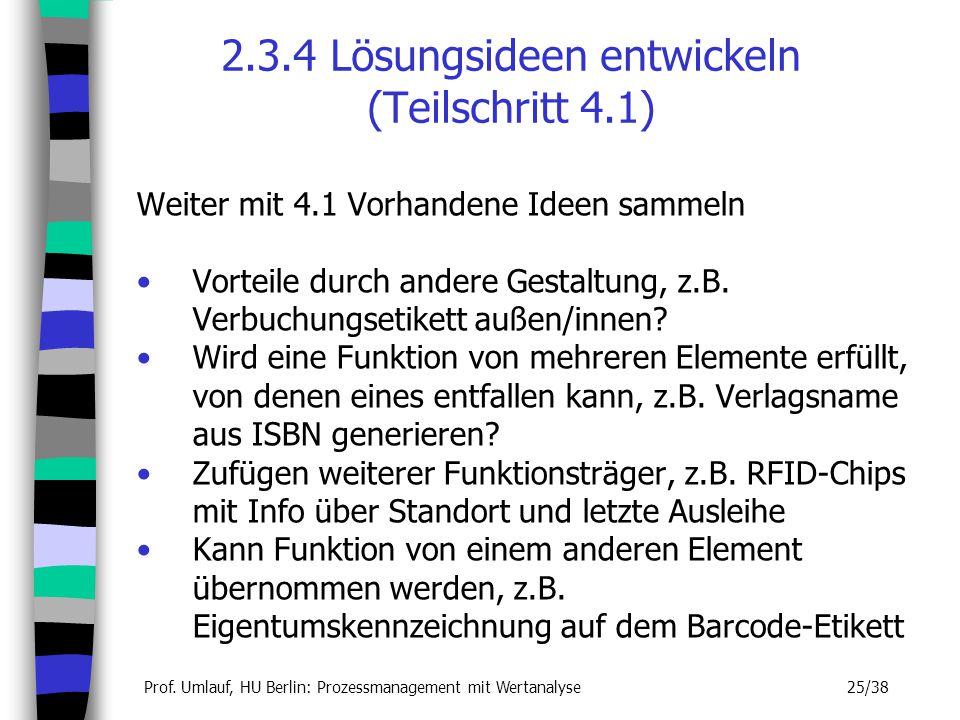 2.3.4 Lösungsideen entwickeln (Teilschritt 4.1)