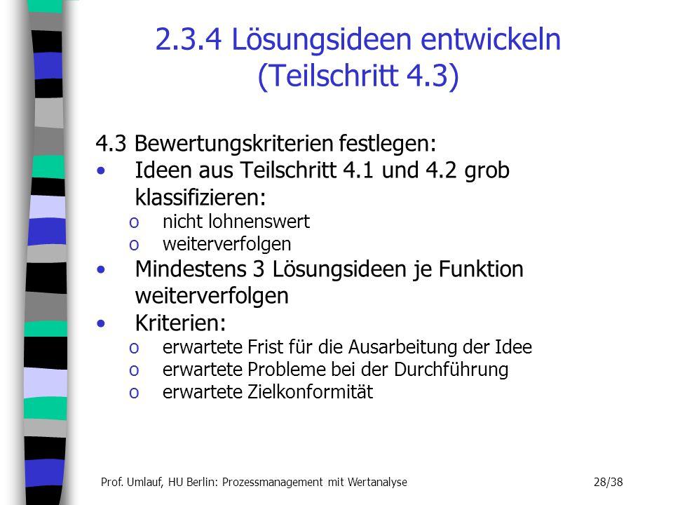 2.3.4 Lösungsideen entwickeln (Teilschritt 4.3)