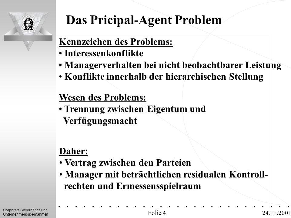 Das Pricipal-Agent Problem