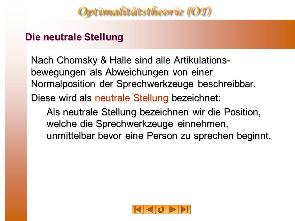 Die neutrale Stellung