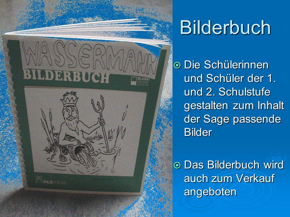 Bilderbuch Die Schülerinnen und Schüler der 1. und 2. Schulstufe gestalten zum Inhalt der Sage passende Bilder.