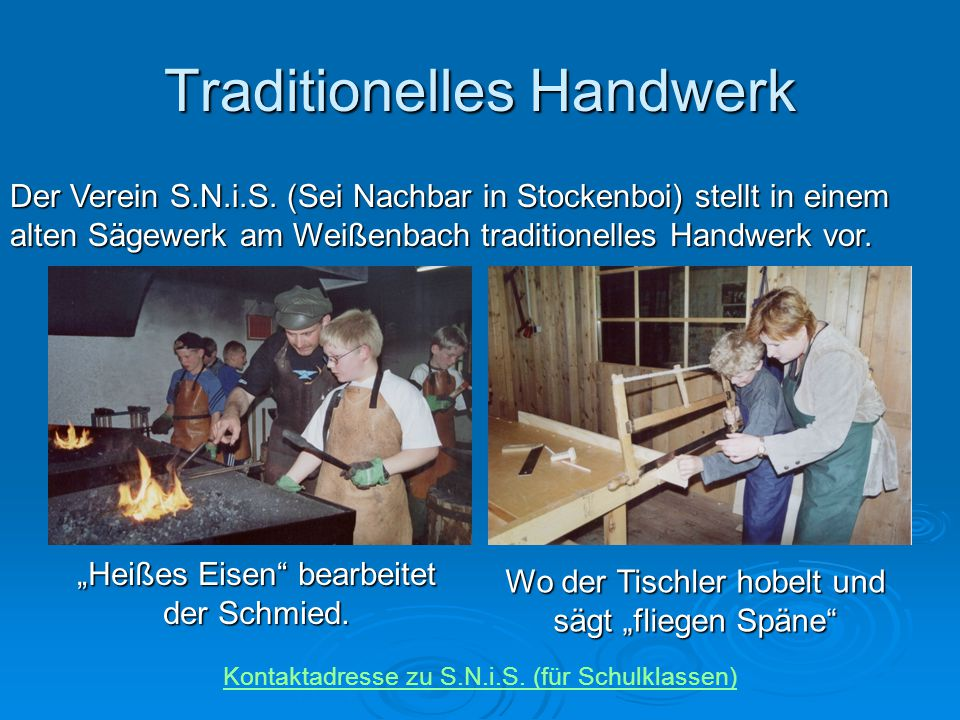 Traditionelles Handwerk