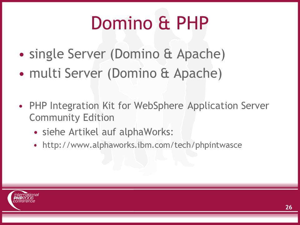 Single Server Konfiguration