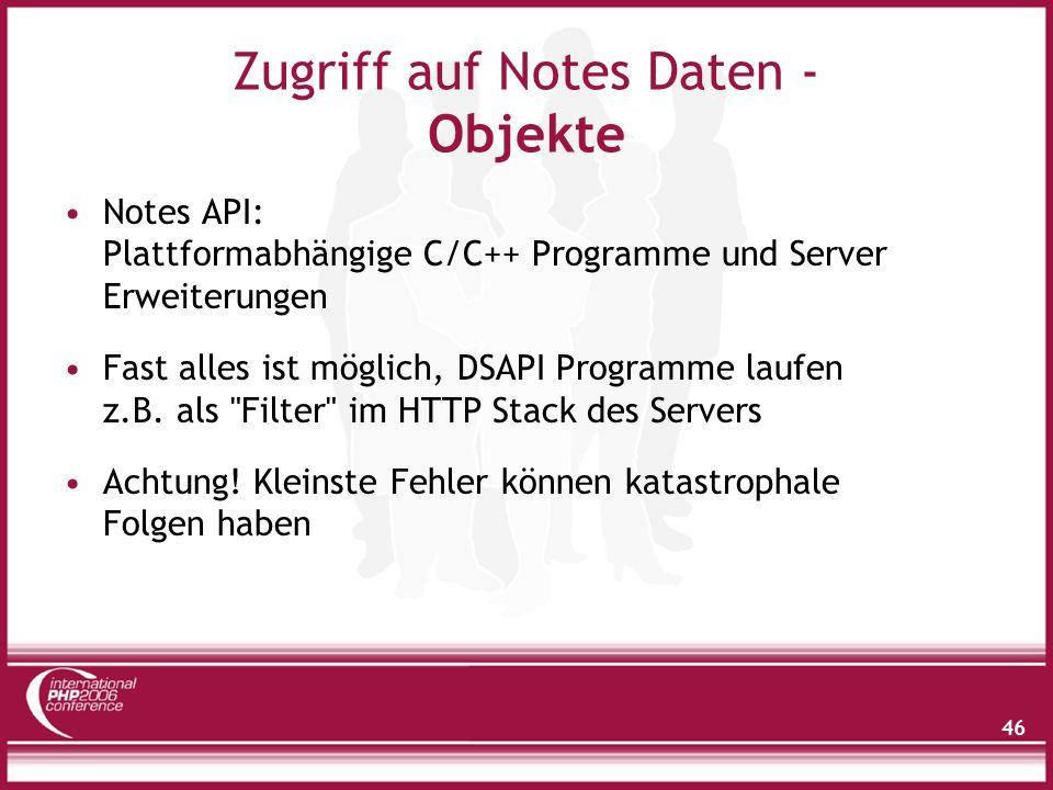 Zugriff auf Notes Daten - HTTP