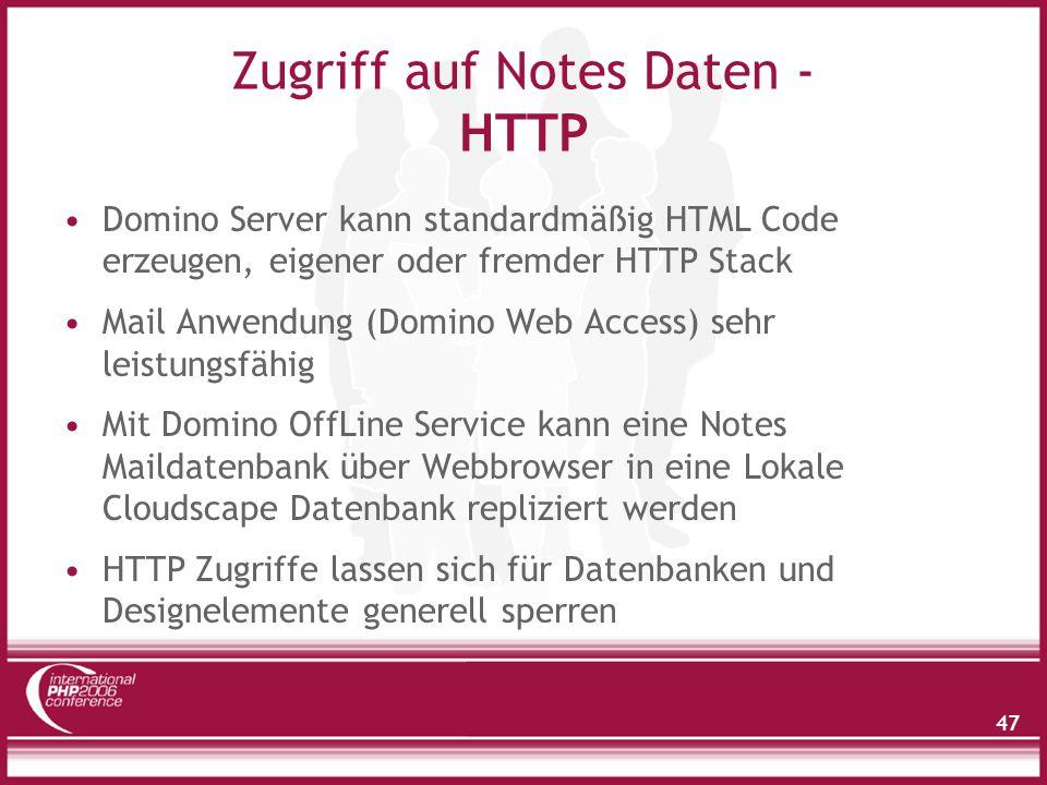 Zugriff auf Notes Daten - Domino XML Language
