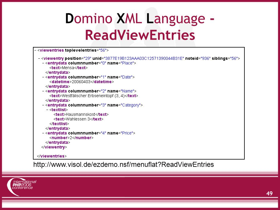 Domino XML Language - Dokument