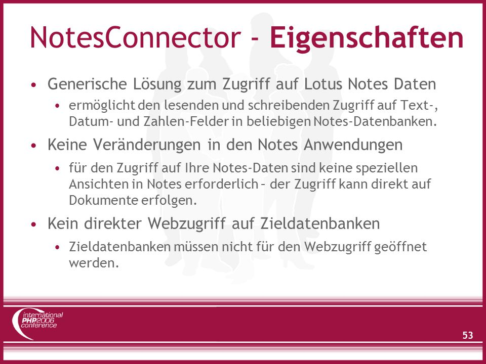 NotesConnector - Eigenschaften