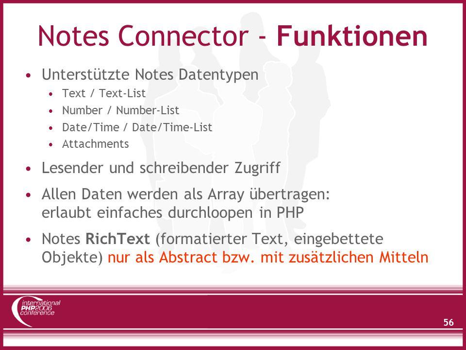 Notes Connector - Demo Einfache PHP-Beispiele