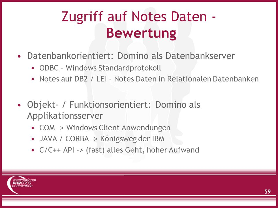 Zugriff auf Notes Daten - Bewertung