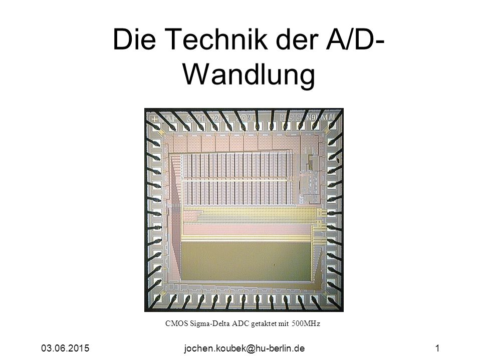 Die Technik der A/D-Wandlung