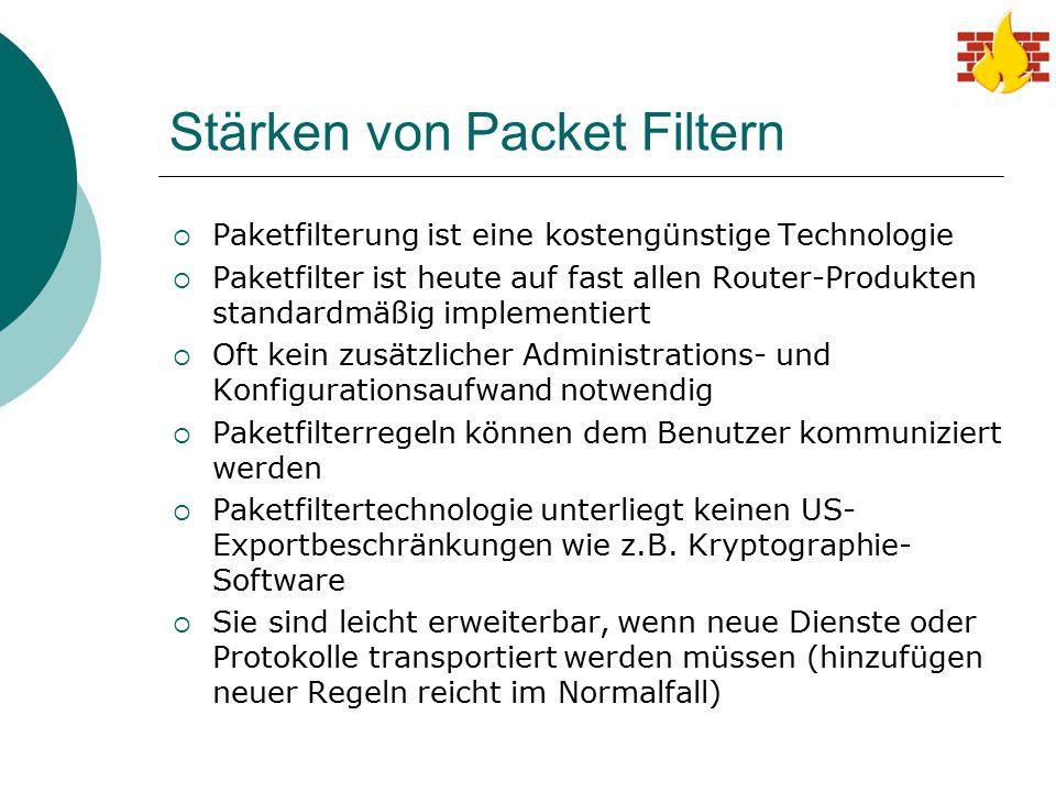 Stärken von Packet Filtern