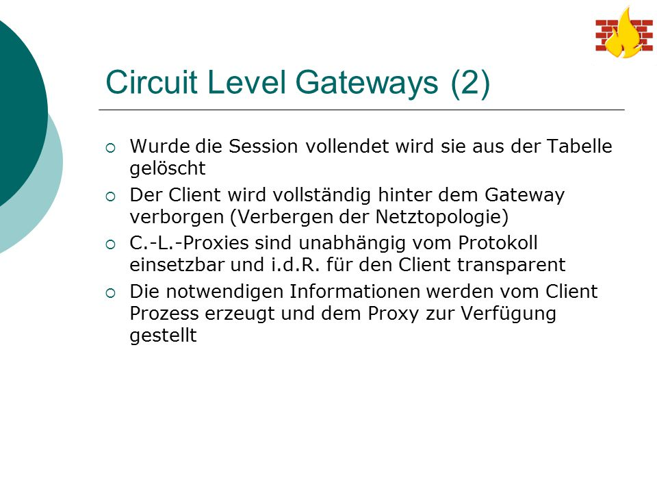 Circuit Level Gateways (2)