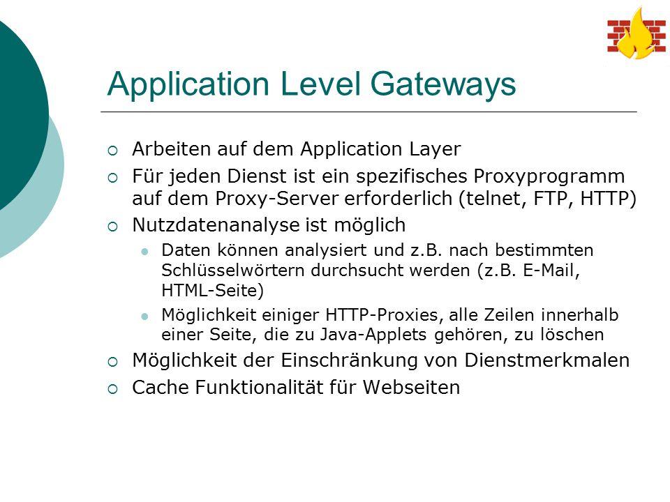 Application Level Gateways