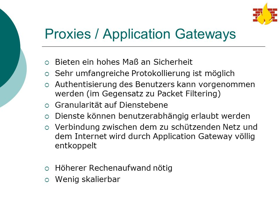 Proxies / Application Gateways