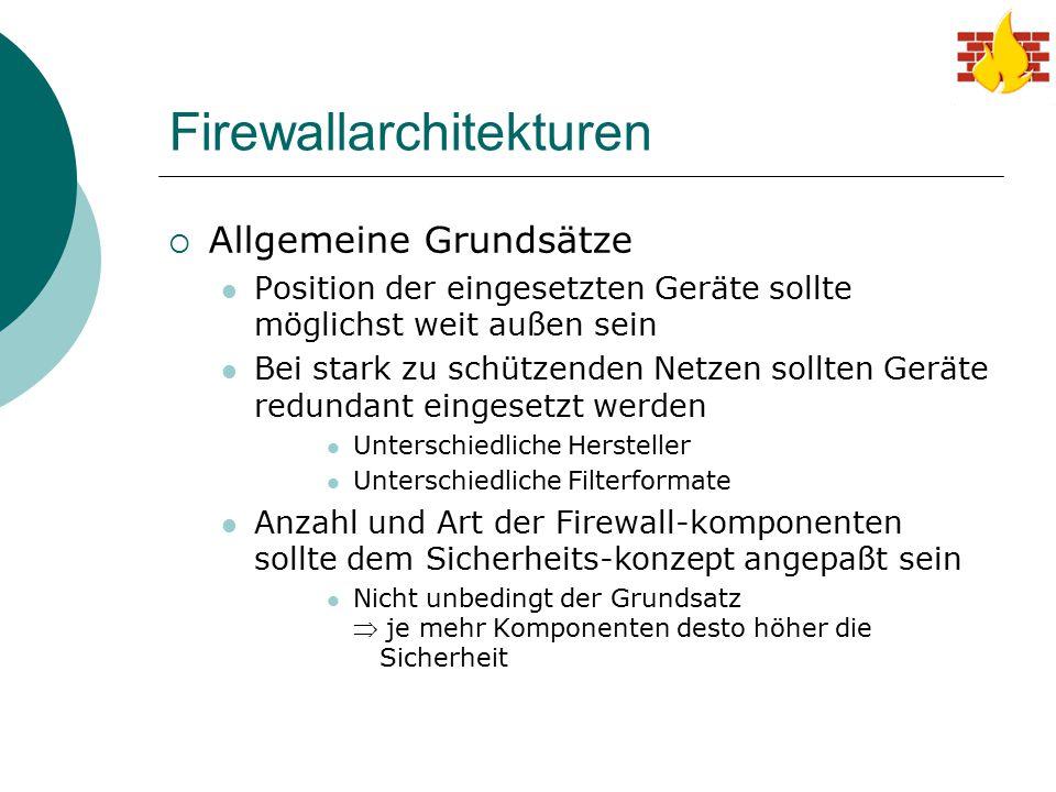Firewallarchitekturen