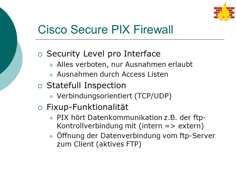Cisco Secure PIX Firewall