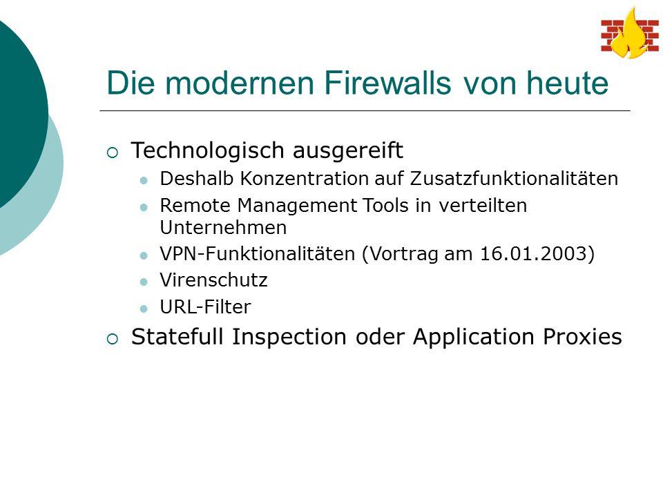 Die modernen Firewalls von heute