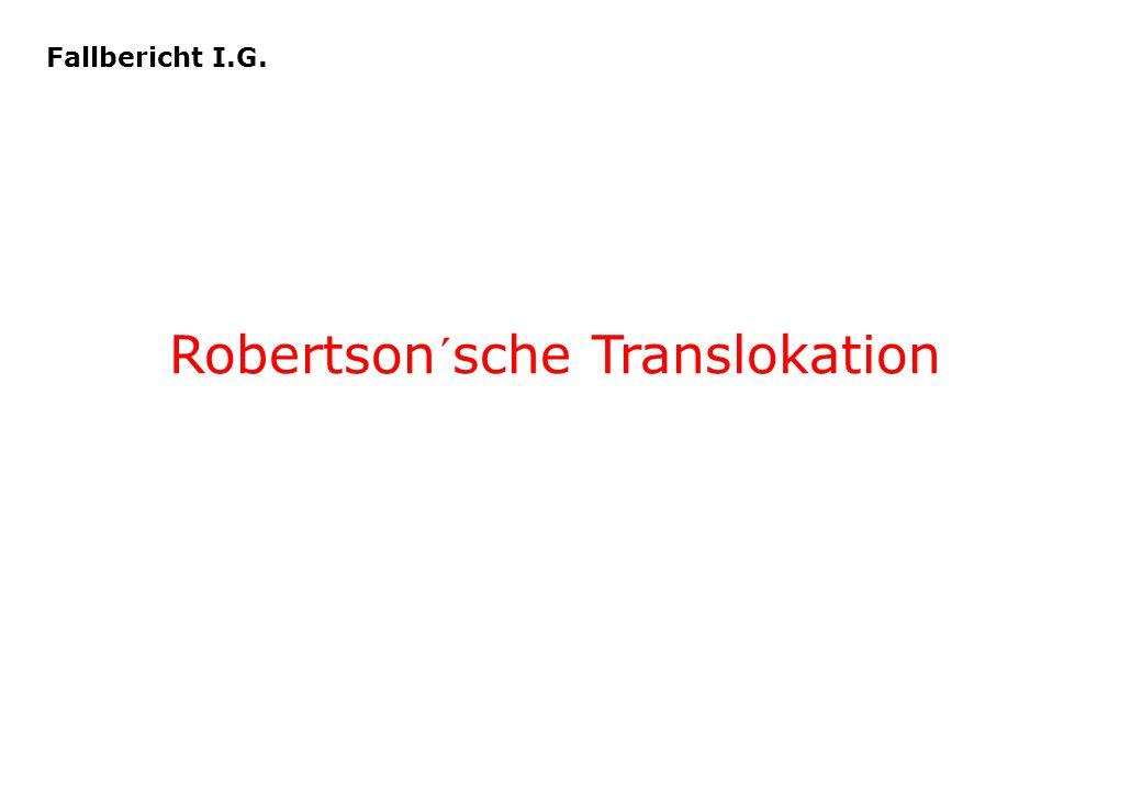 Robertson´sche Translokation