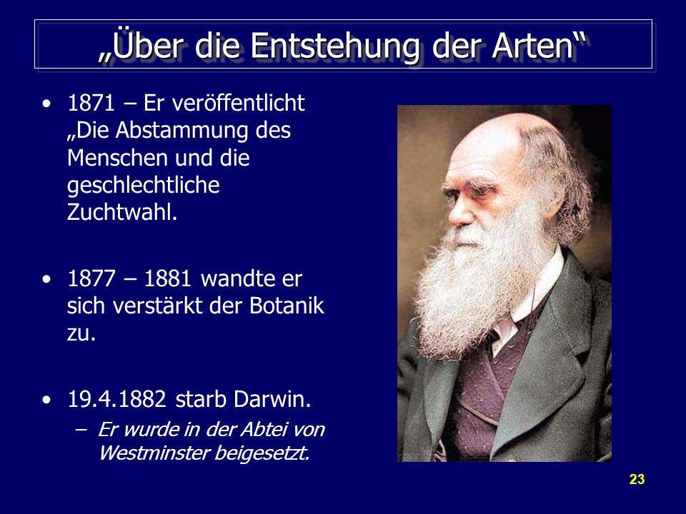 """""""Über die Entstehung der Arten"""