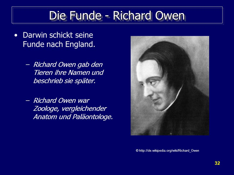 Die Funde - Richard Owen