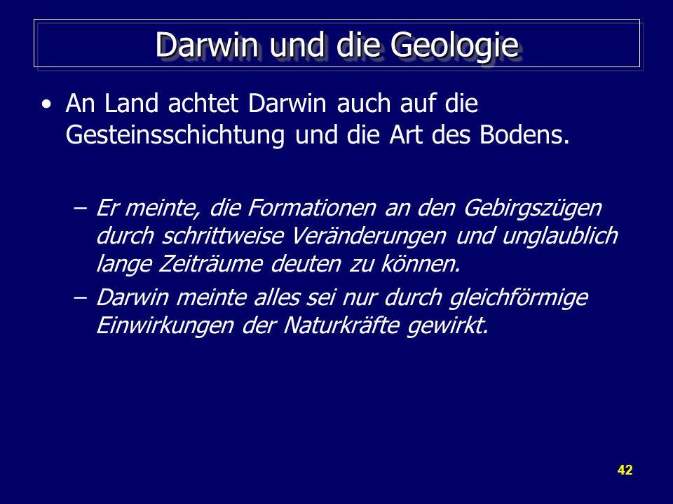 Darwin und die Geologie
