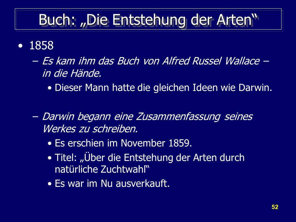 """Buch: """"Die Entstehung der Arten"""