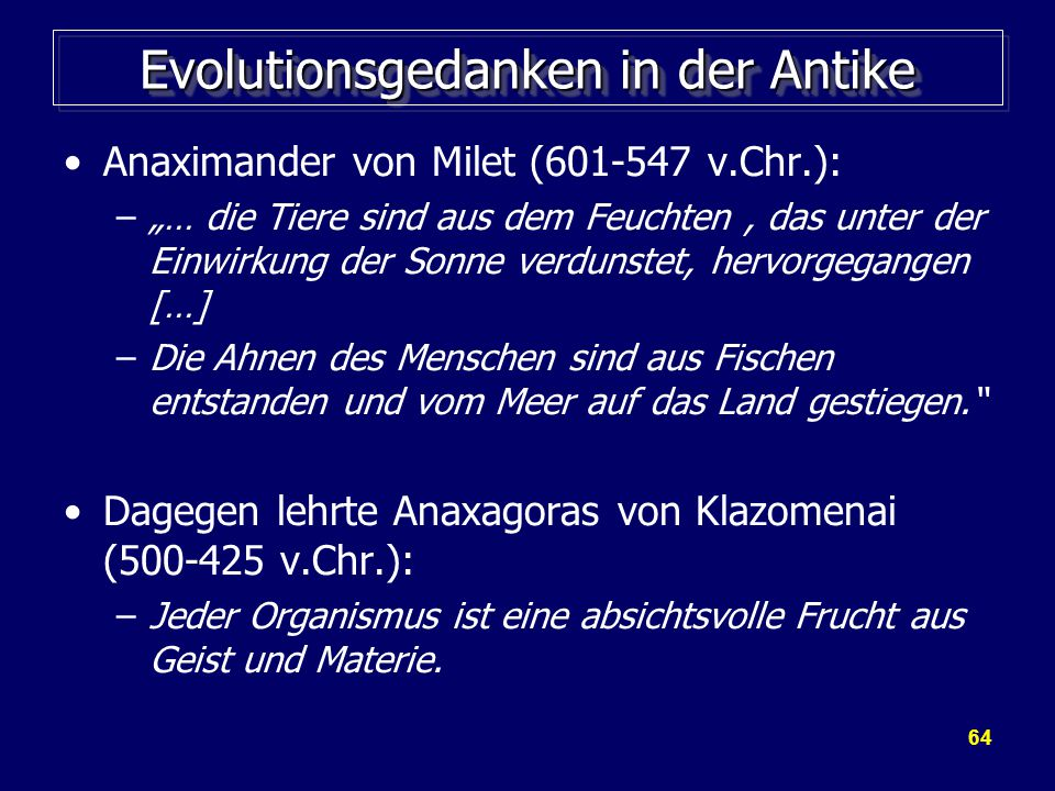Evolutionsgedanken in der Antike