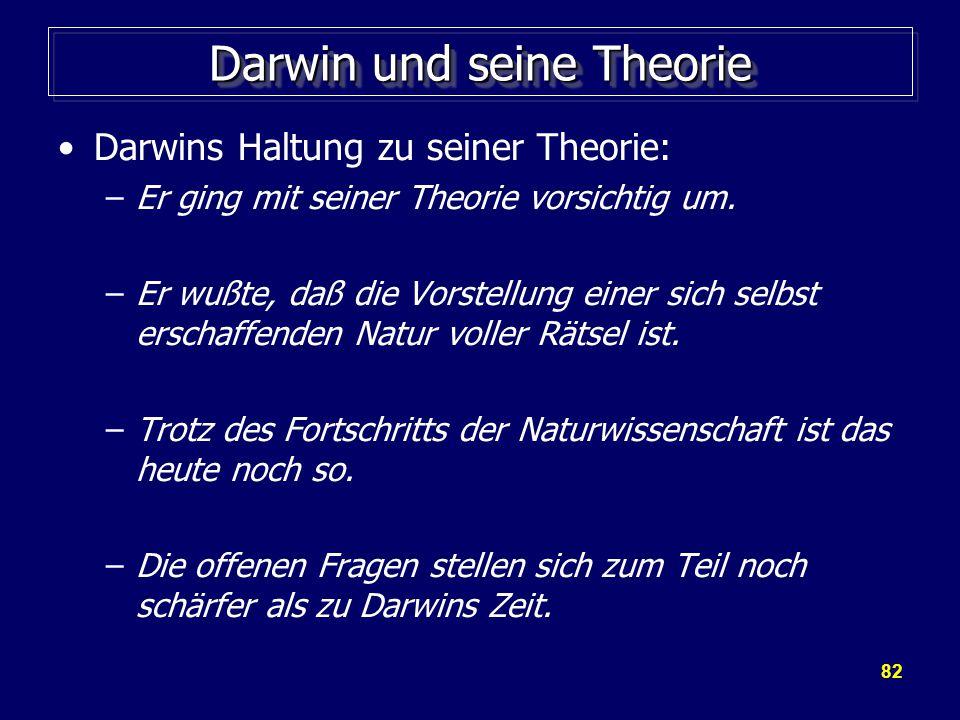 Darwin und seine Theorie