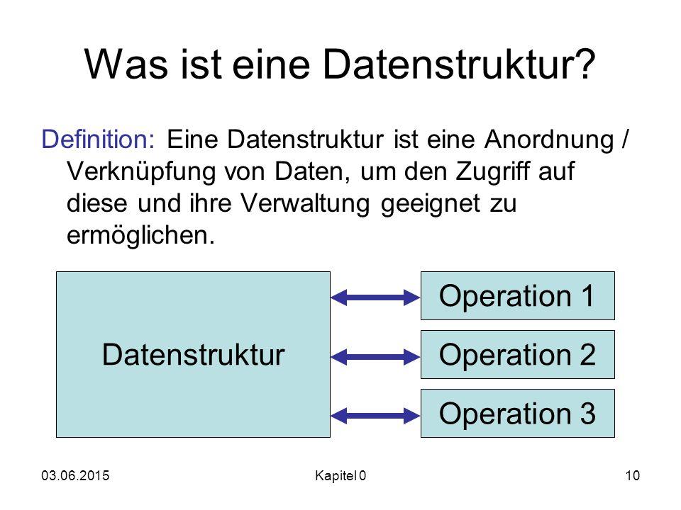 Was ist eine Datenstruktur