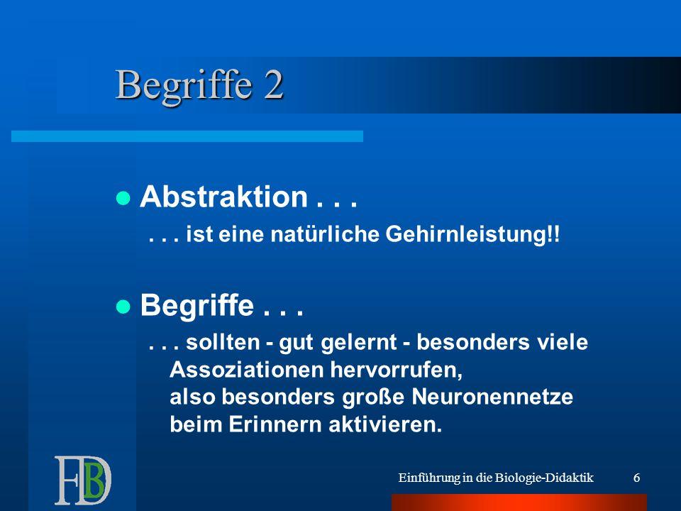 Begriffe 2 Abstraktion . . . Begriffe . . .
