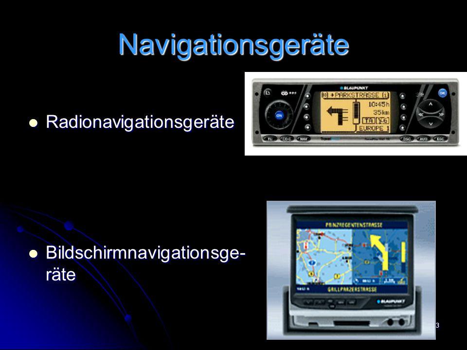 Navigationsgeräte Radionavigationsgeräte Bildschirmnavigationsge-räte