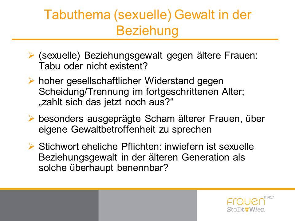 Tabuthema (sexuelle) Gewalt in der Beziehung
