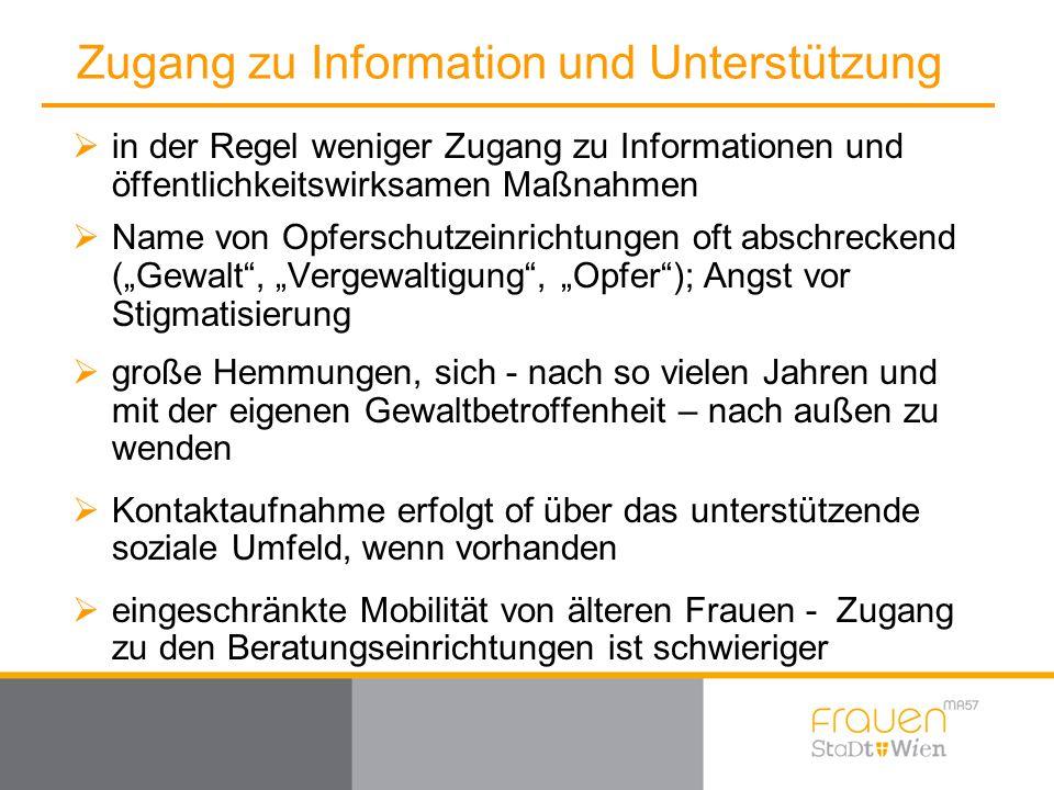 Zugang zu Information und Unterstützung