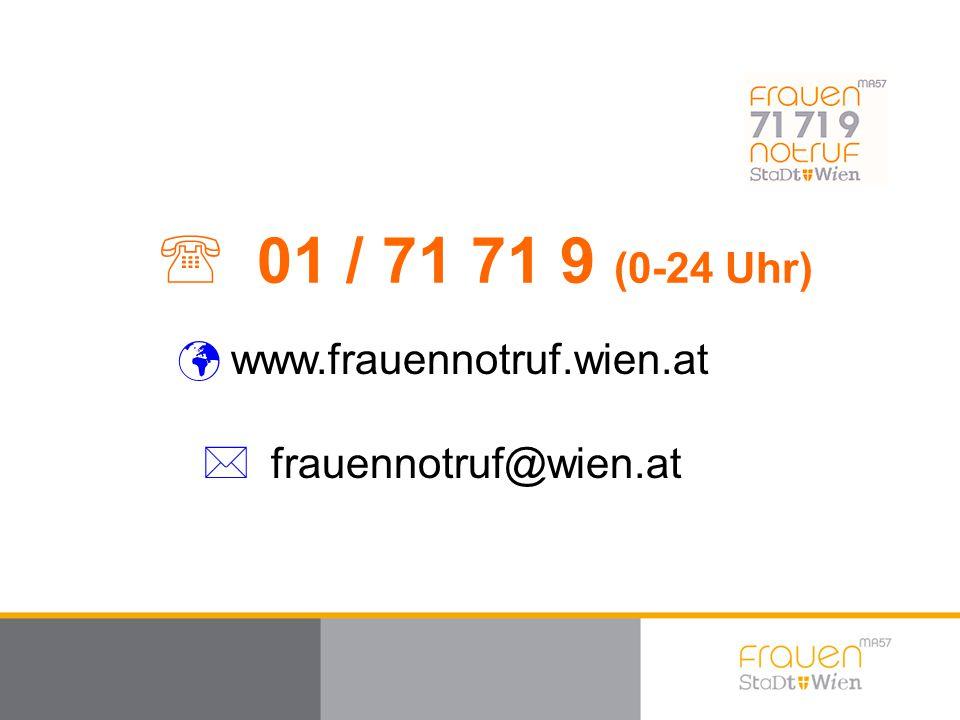 01 / 71 71 9 (0-24 Uhr) www.frauennotruf.wien.at frauennotruf@wien.at
