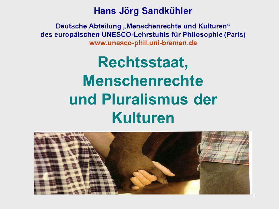 Rechtsstaat, Menschenrechte und Pluralismus der Kulturen
