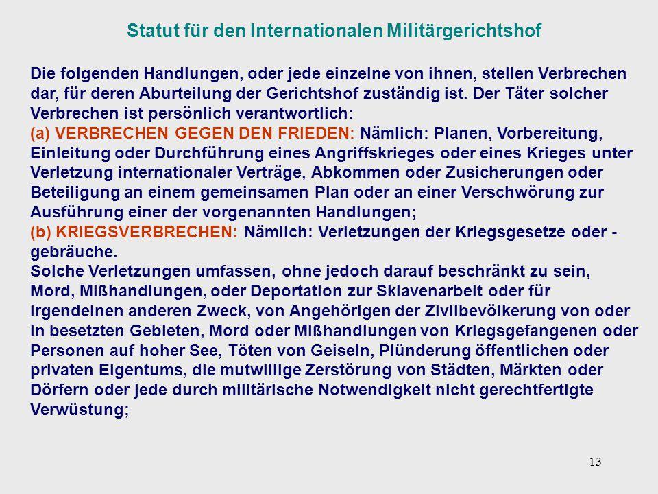 Statut für den Internationalen Militärgerichtshof