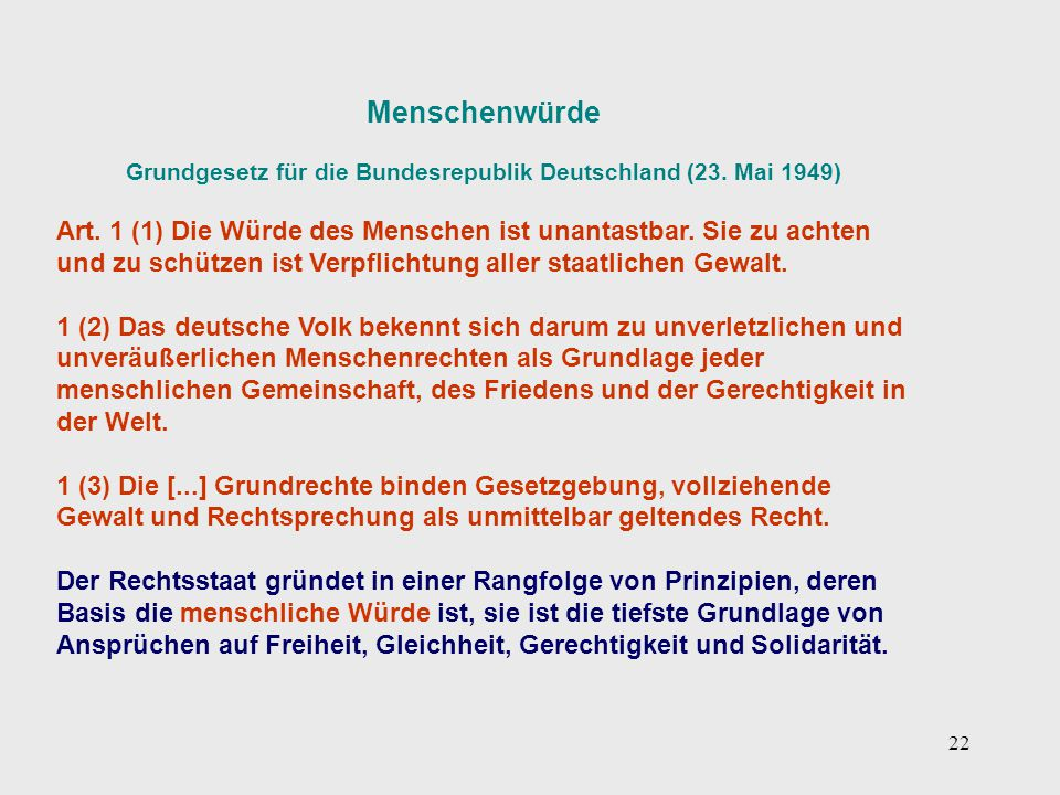 Grundgesetz für die Bundesrepublik Deutschland (23. Mai 1949)
