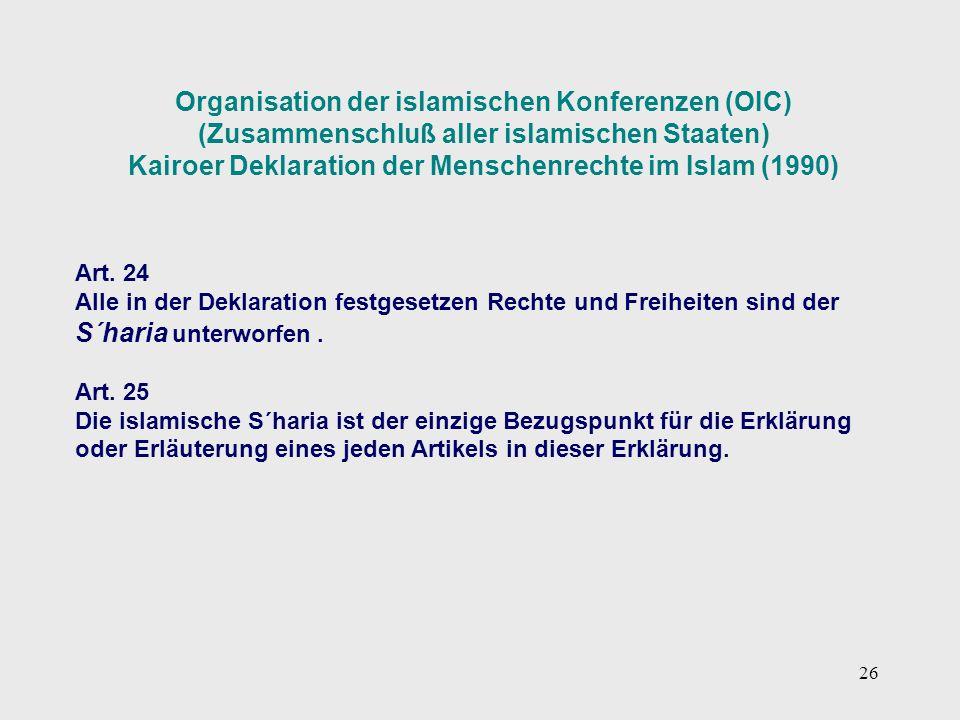 Organisation der islamischen Konferenzen (OIC)