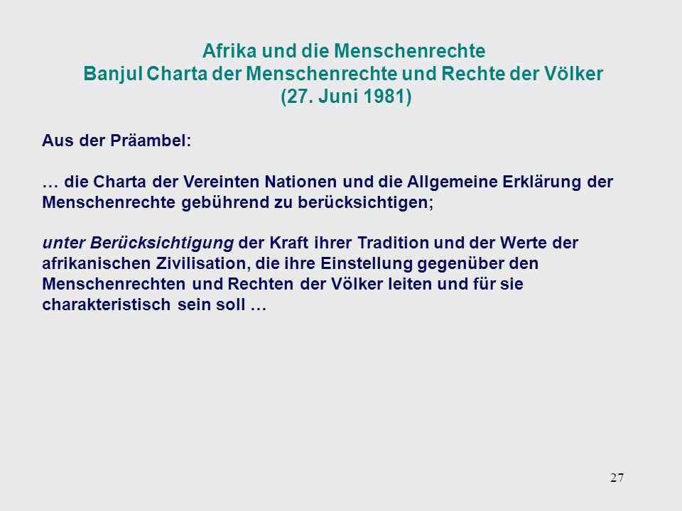 Afrika und die Menschenrechte
