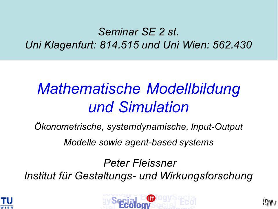 Seminar SE 2 st. Uni Klagenfurt: 814. 515 und Uni Wien: 562