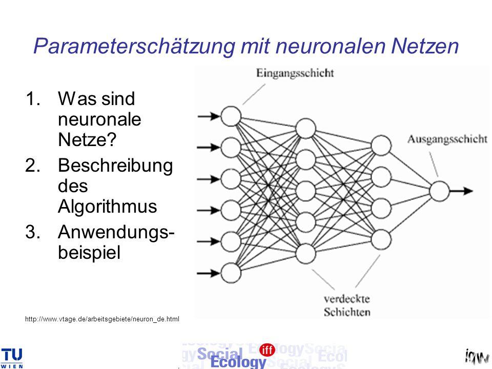 Parameterschätzung mit neuronalen Netzen