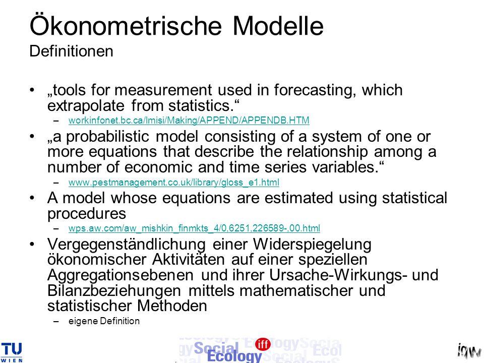 Ökonometrische Modelle