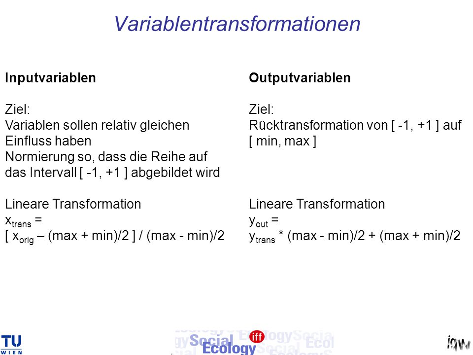 Variablentransformationen