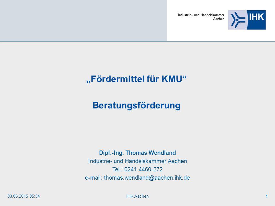 """Fördermittel für KMU Dipl.-Ing. Thomas Wendland"