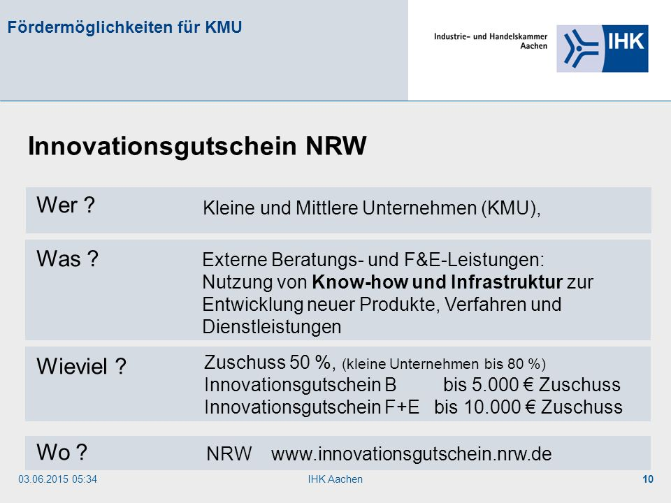 Innovationsgutschein NRW
