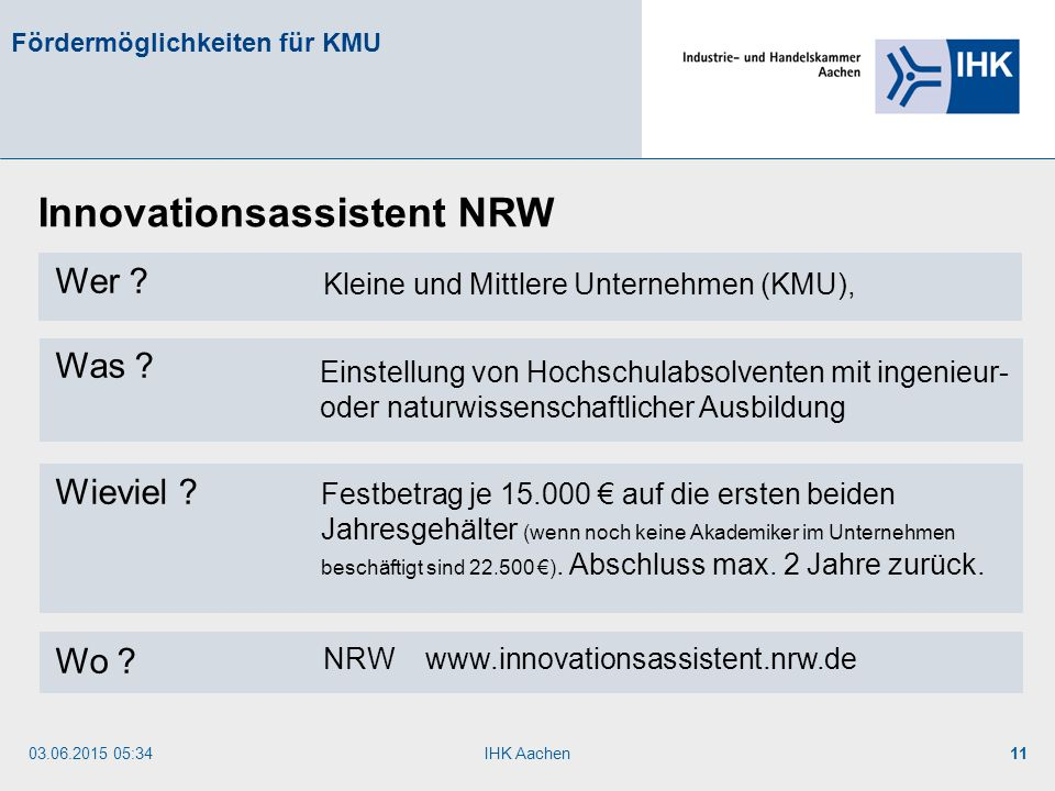 Innovationsassistent NRW
