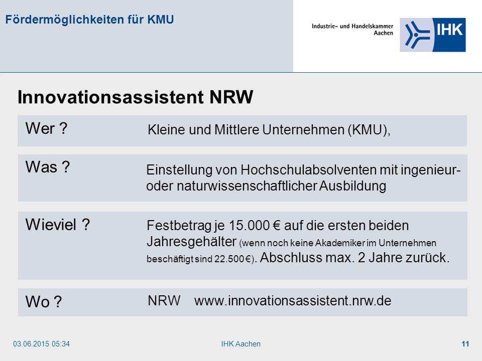 Innovationsassistent NRW