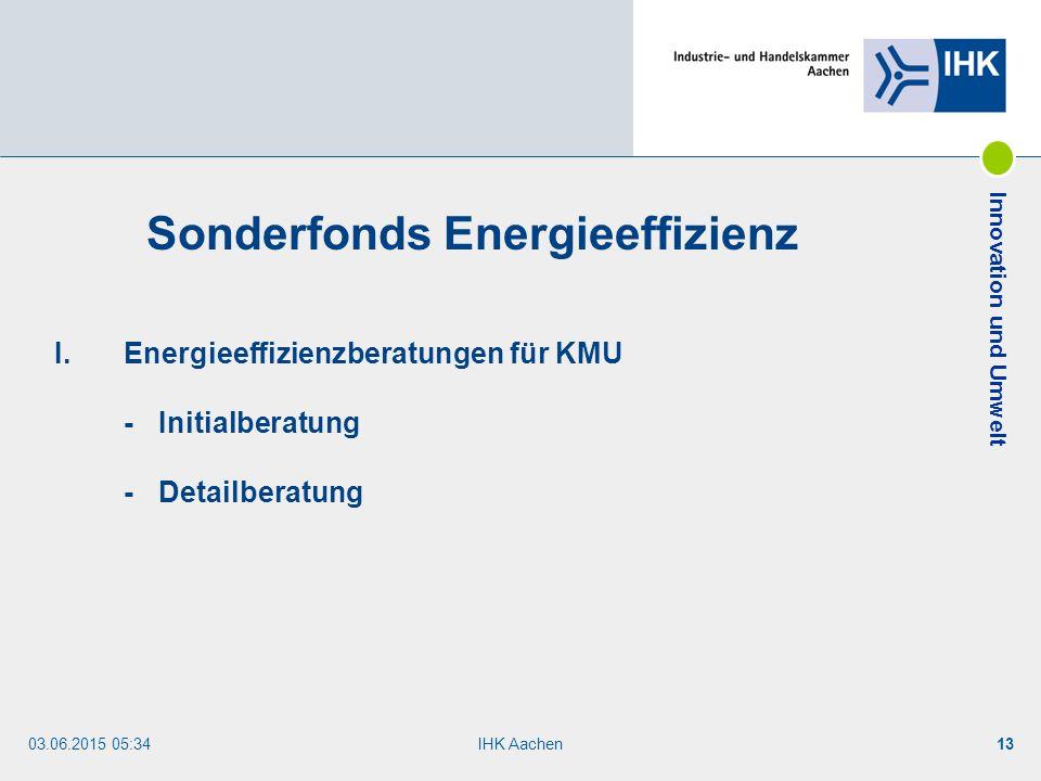 Sonderfonds Energieeffizienz